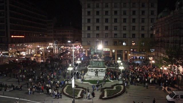 Belgrade Earth Hour 2014 Trg