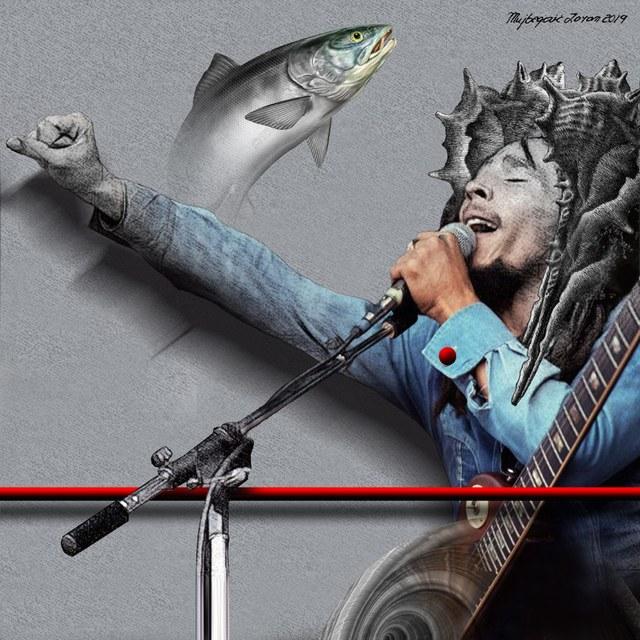 Bob Marley slika Zorana Mujbegovica