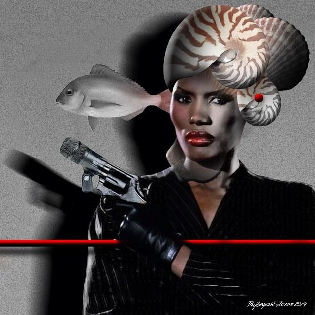 Grace Jones slika Zorana Mujbegovica