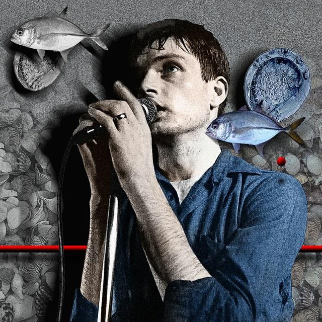 Ian Curtis of Joy Division - slika Zorana Mujbegovica