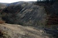 Ispoštena zemlja na Kosmaju, posledica rimske eksploatacije rude srebra - snimio Časlav Petrović