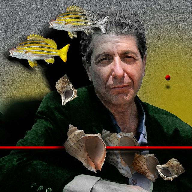 Leonard Cohen - slika Zorana Mujbegovica