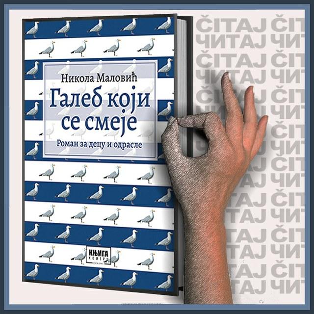 Nikola Malović – Galeb koji se smeje (ilustracija)