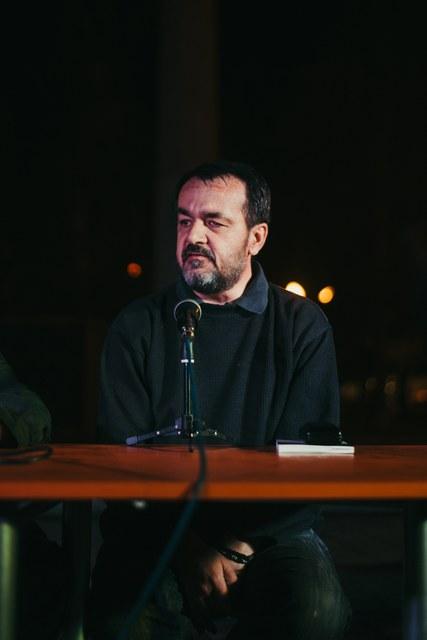 Slavko Stamenić na promociji Na veslu priča, foto: Časlav Petrović